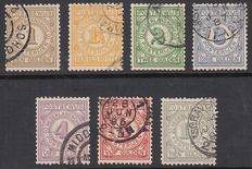 The Netherlands 1884 – Postal stamps – NVPH PW1/PW7