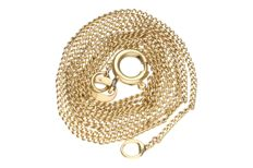 Yellow gold curb link necklace in 14 kt