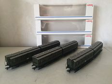 Märklin H0 - 4307/08/09 - 3 sets of carriage pairs of the DRG