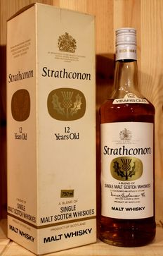 Strathconon 12 years old, a blend of Single Malt Scotch Whiskies, 43%vol, 750ml, very rare / James Buchanan, Original Box