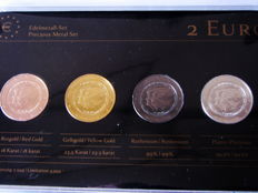 Netherlands - 2 Euro 'Precious Metal Set' 2013 'Change of Throne' (4 different coins)