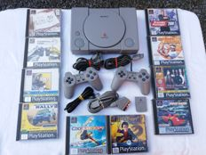 Sony Playstation one console with 10 games - original carrybag -cabels - 2  controllers -and memory card.