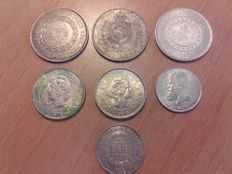Brazil - 7 coins from the 19th and 20th centuries