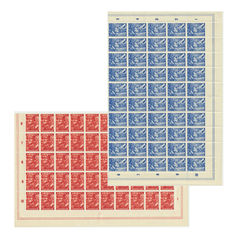Netherlands 1942 – Legion stamps – NVPH 402/403 in sheet parts of 50
