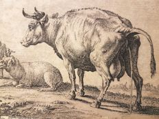 After Nicolai Berchem by an unknown artist - Pissing Cow - 18th century