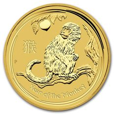Australia - Lunar year of the monkey 2016 - 5$ - 999 gold coin