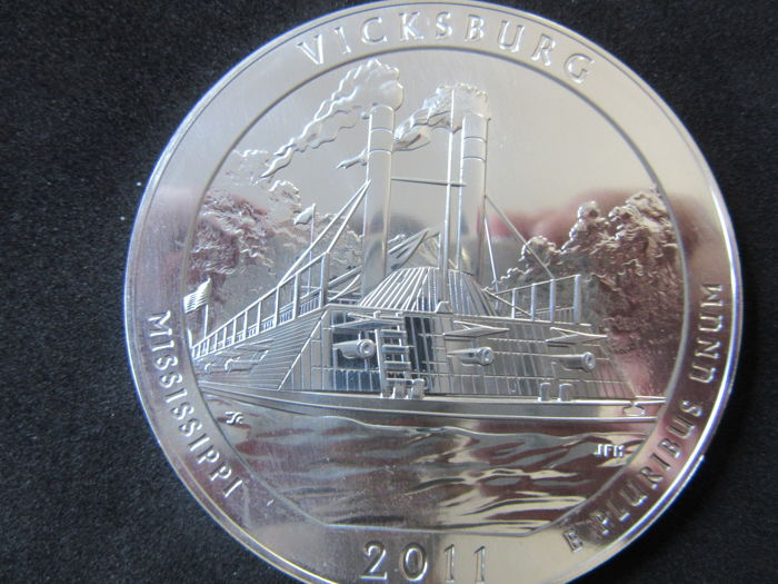 2011 Vicksburg America The Beautiful ATB 5 oz .999 Fine Silver Coin