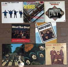 "Beatles: lot of 8 lp's ""Meet the Beatles"" ""Beatles' greatest"" ""Help!"" ""Please please me"" ""Superstarshine vol. 10"" ""Abbey road"" ""Rubber soul"" ""Introducing the Beatles"""