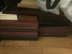 lot of boxes for protecting documents and drawing block in leather