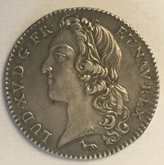 France - Louis XV - 1/5 Écu with band 1741-A Paris - Silver