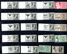 Belgium 1936/1939 - Collection of publicity Stamps
