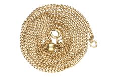 14 kt Yellow gold curb link necklace – Length: 60 cm