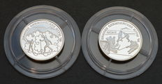 Russia - 1 Rouble 1997 Olympic Games in Nagano (2 coins) - silver