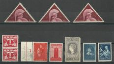 The Netherlands 1913/1938 - Selection of 9 flaws