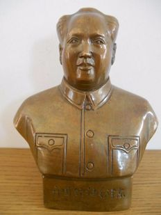 Authentic bronze bust of Mao Zedong / Mao Tsé-Toung