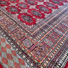 Superior XL Bukhara Persian carpet – 270 x190 – very good condition – with certificate
