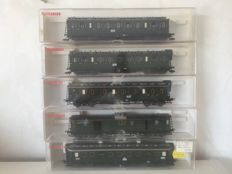 Fleischmann H0 - 5083/5084/5085/5086/5087 - Five carriages of the DRG