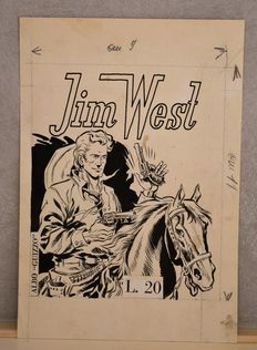 "Pini, Segna - original logo ""Jim West"" with coloured back (1950s)"