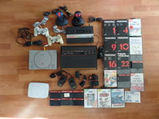 Big lot retrogaming - Playstation with cables and joysticks - PS one - Atari VCS with cables and joysticks - Atari 2600 - 2 Quickshot joysticks - 7 Videopac games - 11 Sega Master System games