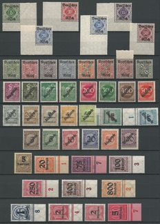 German Reich 1920/1944 - selection of official stamps Michel 52/64, 75/98, 99/104, 132/143, 155/177