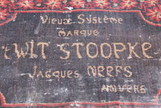 Antique doormat - Jenever (Gin) t wit stoopke - Ca 1900