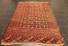 Nice Art Deco Jomut Buchara UDSSR oriental carpet, wool on wool, around 1930, made in UDSSR, 156 x 220 cm