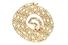 14 kt yellow gold curb link necklace