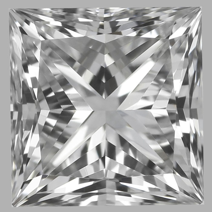 0.50 ct Square Modified Brilliant Diamond E VVS2 GIA Serial# 1705 Original Image 10X