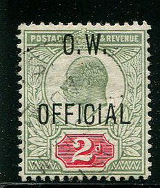 Great Britain, 1902/1903 – 2d Office of Works – Stanley Gibbons O38