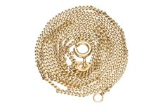 Yellow gold curb link necklace in 14 kt – 52 cm