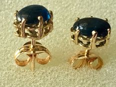 Beautiful 18 kt/750 yellow gold earrings with 0.70 ct sapphires