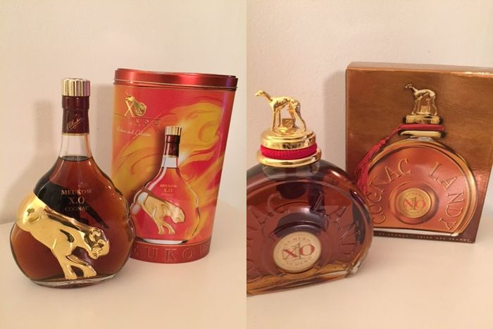 1 bottle Cognac Landy XO numero 1  /  1 bottle Cognac Meukow XO