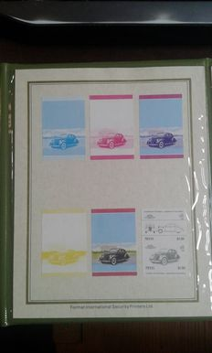 Nevis 1985 – official booklet of the car series in Proof Card