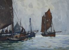 2x Fred Dade (1874-1908) - A pair of shipping scenes.