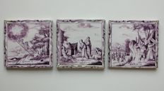3 tiles in pairs - biblical depiction.