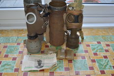 Belgian gas mask & French gas mask