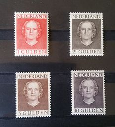The Netherlands 1949 – Queen Juliana 'en face' – NVPH 534/537