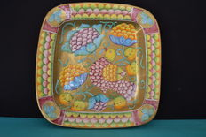 Marioni Paolo - large ceramic tray - signed and marked