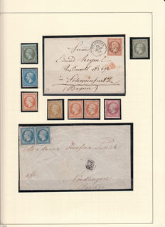 France 1860/1867 – Napoleon III – stamp collection, letters, study of postmarks