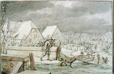 Jacob Cats (1741 - 1799) - Return from wooodgathering in winter