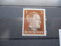 "1933-1945 - letter airship ""Hindenburg"" and letters, stamps, postcards, medal and two A.H.. blocks and ""Ruhr Pocket"" stamp"