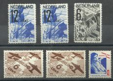 Netherlands 1931/1935 - Selection of 6 flaws