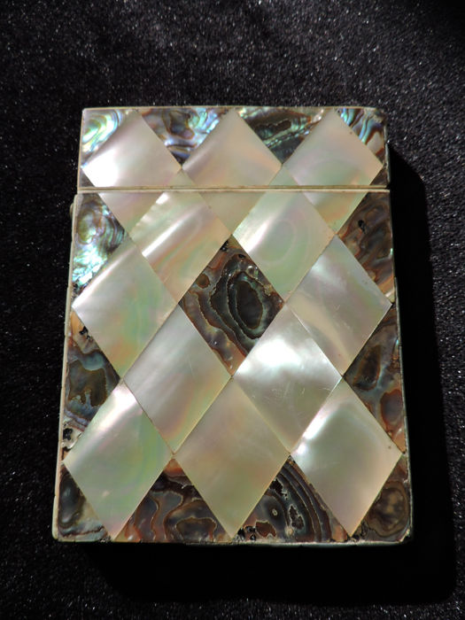 Victorian business card holder in oyster and abalone mother of pearl victorian business card holder in oyster and abalone mother of pearl ca colourmoves
