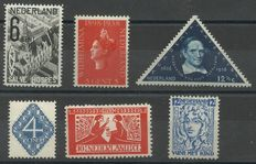 The Netherlands 1923/1938 - Selection of 6 flaws