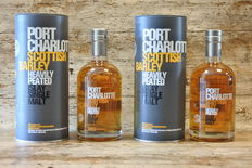 Port Charlotte Scottish Barley Heavily Peated - in original tins - 2 bottles