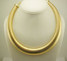 Signed KENNETH JAY LANE -  Choker Necklace Omega style