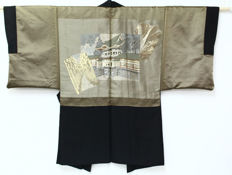 Silk Haori Kimono with landscape scenery  - Japan - early 20th century