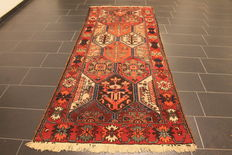 Semi antique handwoven PERSIAN oriental carpet from around 1960, Bakhtiari, made in Iran, 212 x 294 cm