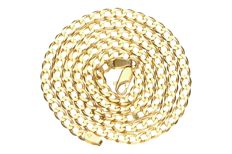 18 kt yellow gold curb link necklace
