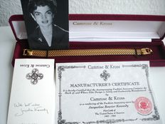 Camrose & Kross - Jackie Kennedy - Goldplated Woven Mesh Bracelet with original box and Certificate